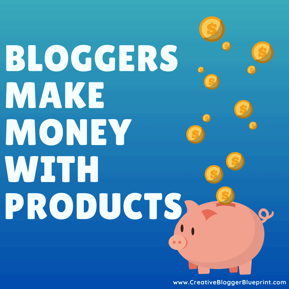 Graphic Bloggers make money with products piggybank with coins