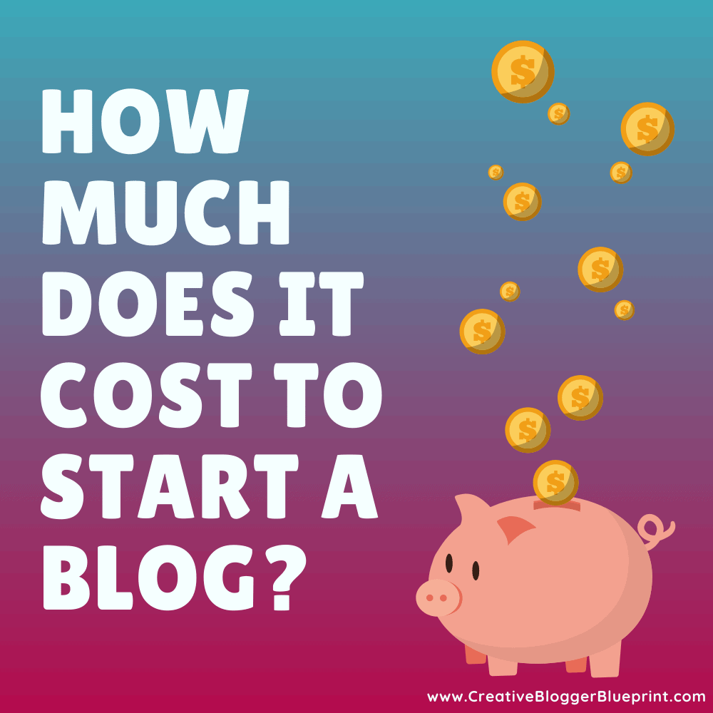 how much does it cost to start a blog with piggy bank and coins