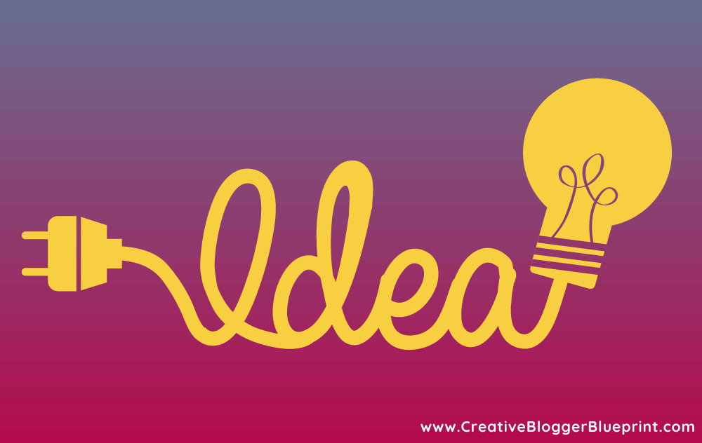 Image of the word idea with a lightbulb