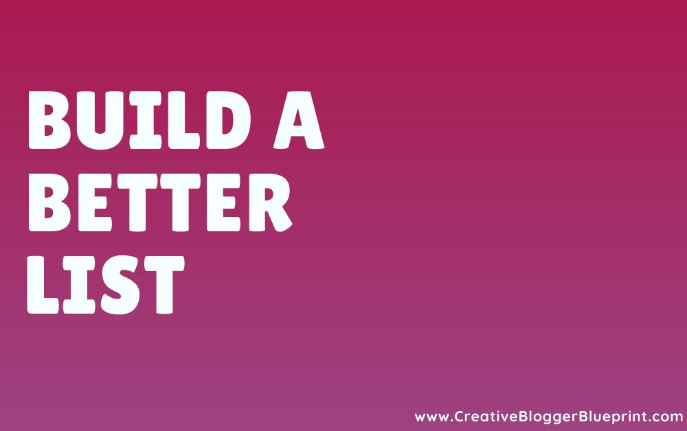 build a better list graphic