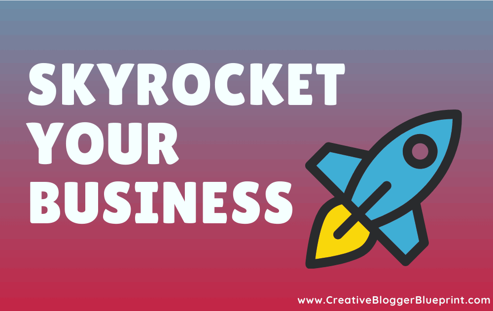 Skyrocket your business graphic